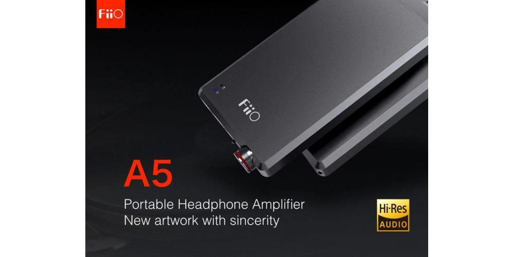 FIIO A5 Black Amplificador Auriculares negro hi res