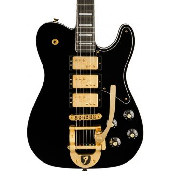Fender Parallel Universe Volume II Troublemaker Telecaster Custom with Bigsby HHH EB Black