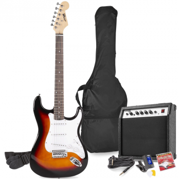 max Gig Kit Guitarra Eléctrica Sunburst con Amplificador 173226