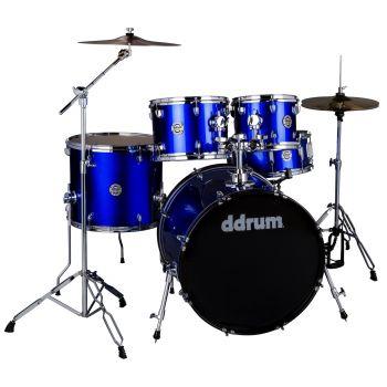 Ddrum D2 COBALT BLUE COMPLETE KIT (5P) Set de Batería Acústica D2-522-CB