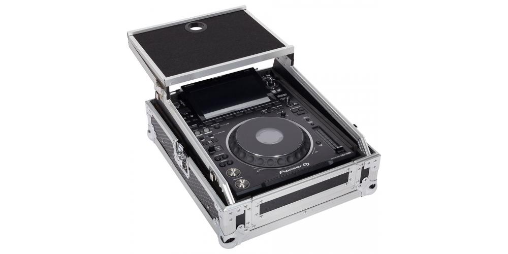 Walkasse WM 12M LTS GL Flight Case Multi formato CDJ MIXER 12 PLUS Plata Soporte Ordenador