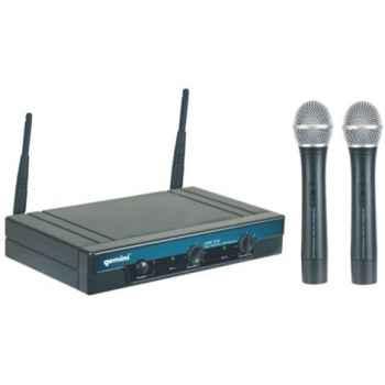 GEMINI UHF-216M Micrófono inalámbrico Doble Mano UHF con pll  UHF216M