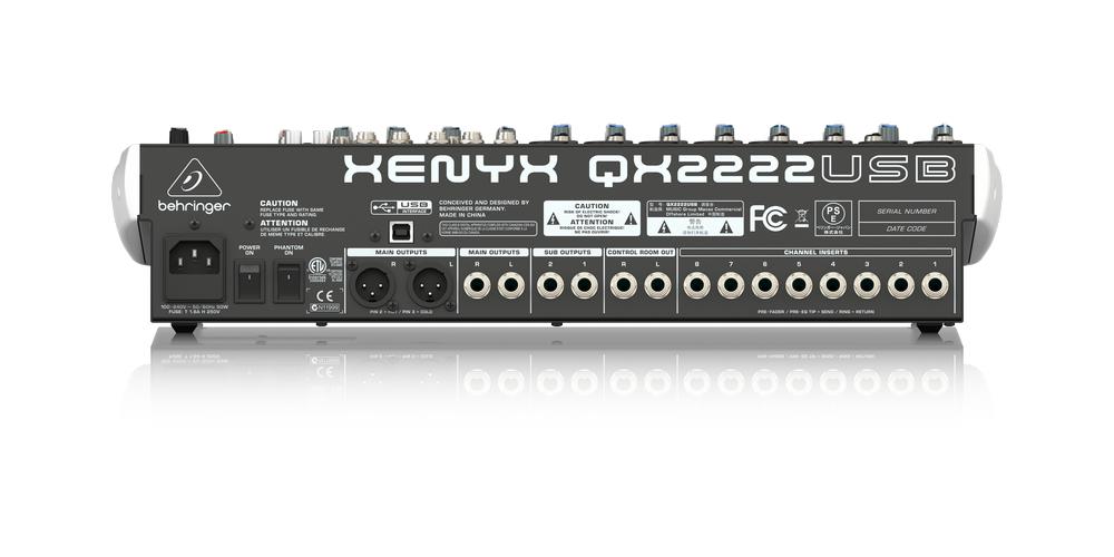 behringer QX2222USB conexiones