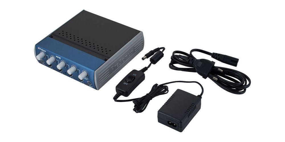 presonus hp4 amplificador auriculares accesorios