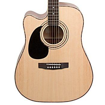 Cort AD880CE-NAT LH Guitarra Acústica para Zurdos Natural