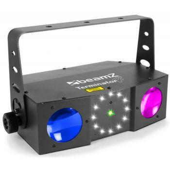 BEAMZ Terminator IV LED Doble Moon con laser y strobo 153716