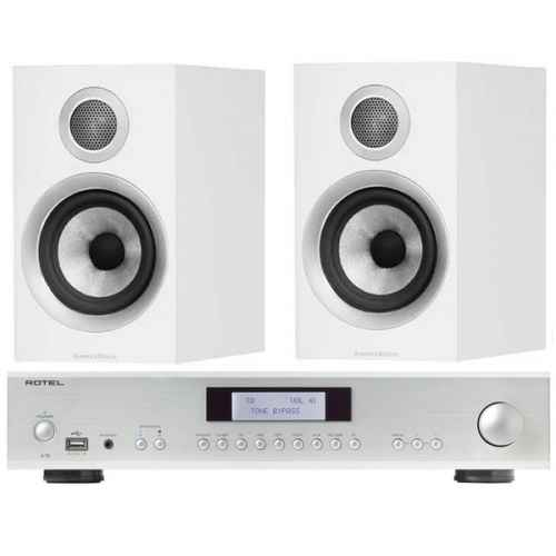 Rotel A12 Silver bw 707 white