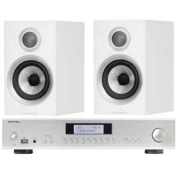 ROTEL A-12 SI+BW707 WH Conjunto Hi-Fi