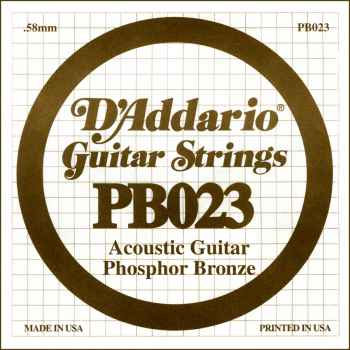 D´addario PB023  Cuerda Suelta para Guitarra Acústica