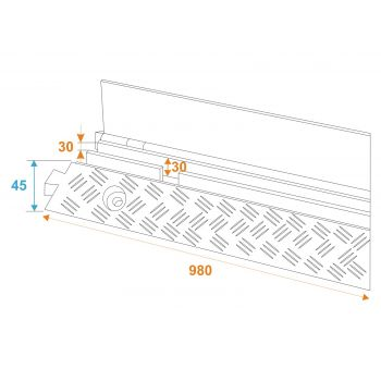 Eurolite KB-2 Pasacables 2 Canales 1010x240x45mm