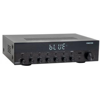 Fonestar AS-6060 Amplificador Bluetooth 60W + 60W RMS. Entrada Micrófono con Mezcla y Echo.Karaoke. Radio FM .Entradas USB . Mando a distancia