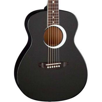 Luna Guitars Aurora Borealis 3/4 Black. Guitarra Acústica