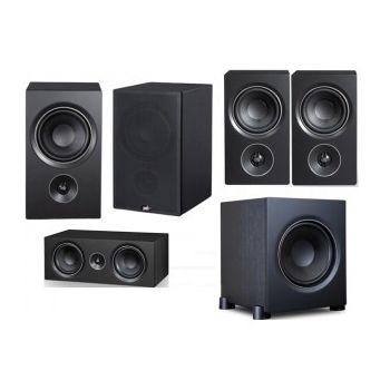 PSB Alpha P5 + C10 + P3 + S8 Black Conjunto Home Cinema 5.1
