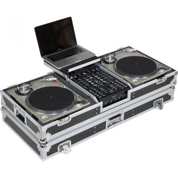 Walkasse WM-DJ10B LTS Maleta 2 Platos + mezclador 10