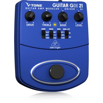 BEHRINGER GDI21 Pedal Preamplificador de Guitarra con salida para DI-box