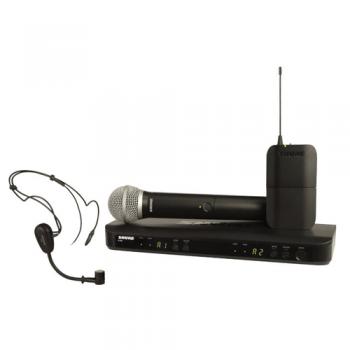 SHURE BLX1288 MX 153 Microfono inalambrico dual de Mano y Diadema