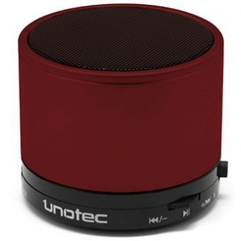 UNOTEC MAXROUND Bluetooth altavoz Inalambrico Rojo
