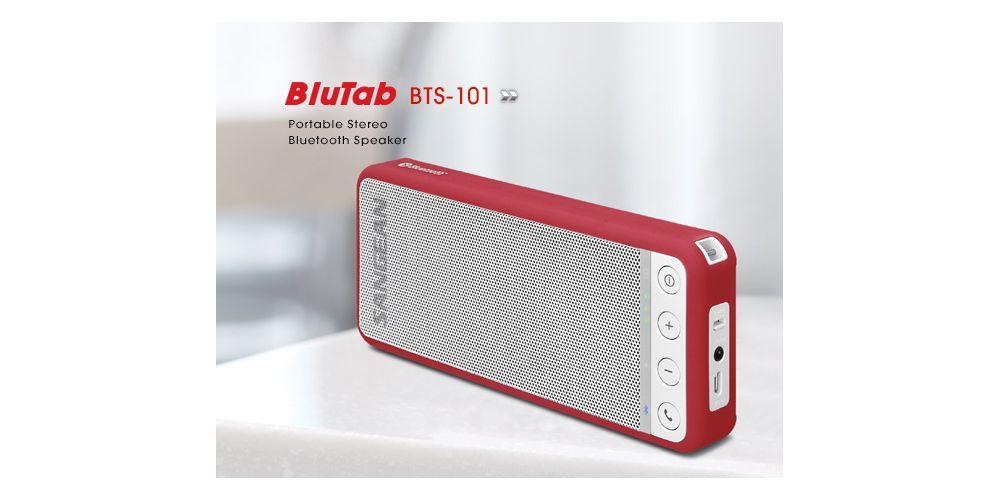 sangean blutab bts 101 altavoz bluetooth rojo
