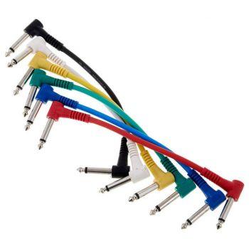 Cable Patch Jack Acodado a Jack Acodado 6 Und, 0,15 Metros, RF:174
