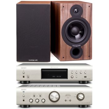 DENON PMA720-SI+DCD720-SI+Cambridge SX60 Walnut