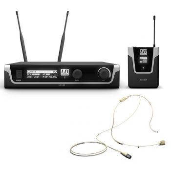 Ld systems U518 BPHH Sistema inalámbrico con petaca y micrófono de diadema color beis