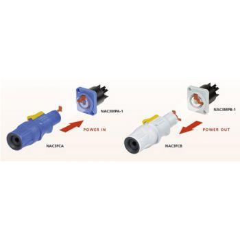 Neutrik NAC3 FCA Conector aéreo PowerCon Azul NAC3FCA