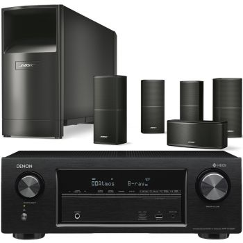 Denon AVRX1400+Bose AM10V Black