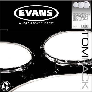 Evans Pack Black Chrome Rock 10, 12 y 16 ETPCHRR