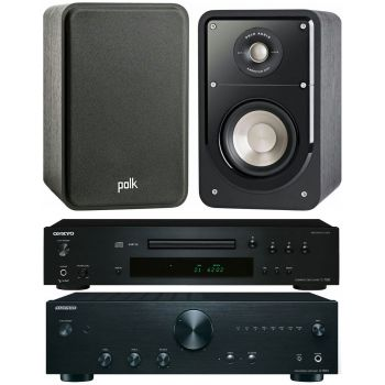 ONKYO A9010 B+ C7030 B+ Polk Audio S15 BK Conjunto Sonido