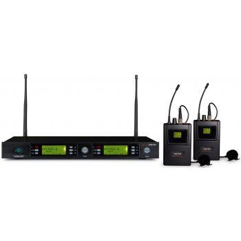 Fonestar MSH-892-863 Micrófono inalámbrico doble petaca UHF