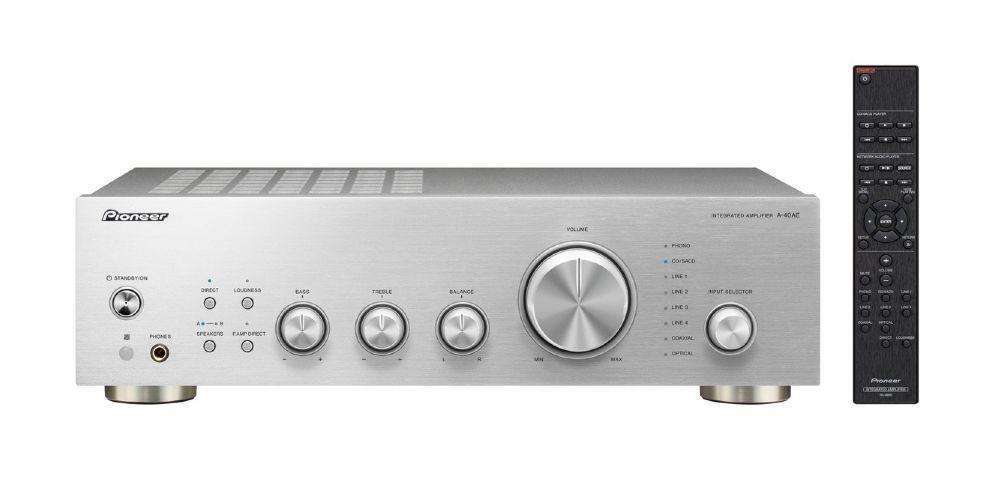 pioneer a 10ae silver amplificador estereo
