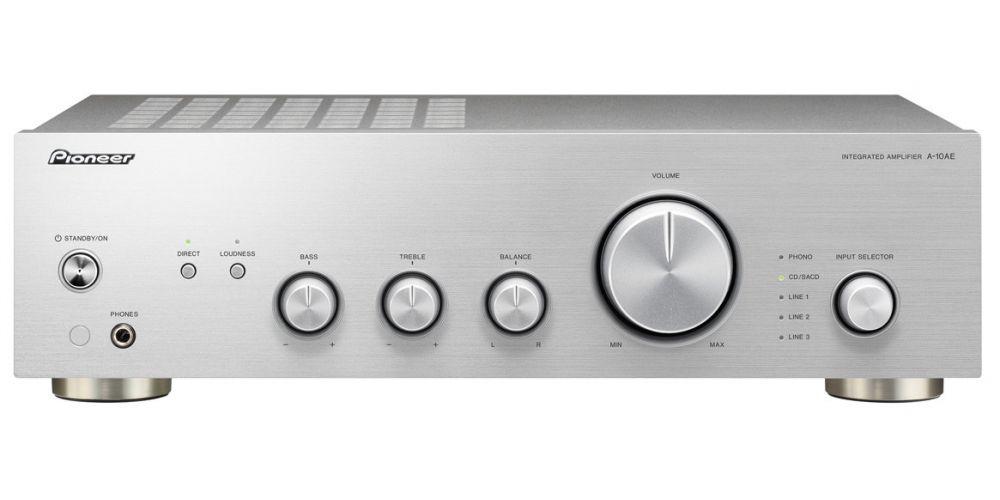 pioneer a10 ae silver amplificador hifi estereo plateado