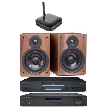 CAMBRIDGE TOPAZ AM10+TOPAZ CD10+SX50 Walnut +Mee Connect hub