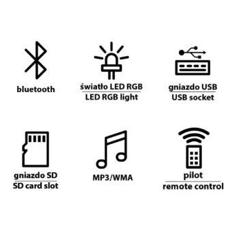 MANTA MDL021 Bola Sound Efectos LED con Altavoz Bluetooth
