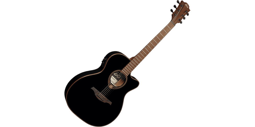lag t118asce blk guitarra electro acústica