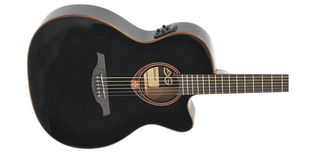 lag t118asce blk guitarra