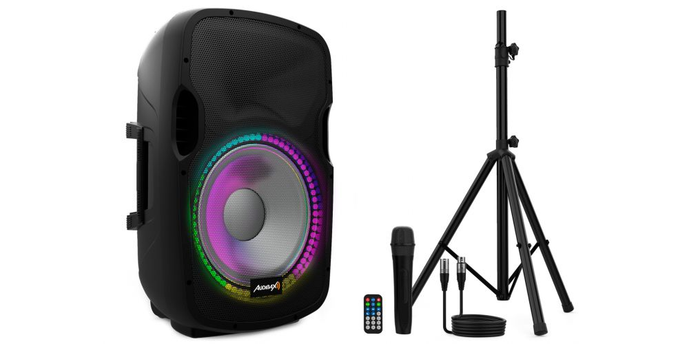 audibax party15 altavoz activo accesorios