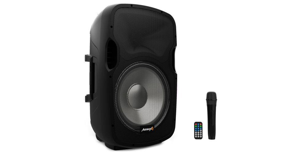 audibax party15 altavoz activo microfono
