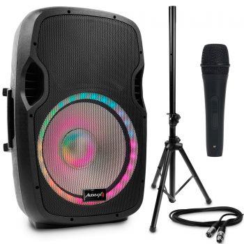 Audibax Party 15 Altavoz Activo Profesional Bluetooth 15 Pulgadas + Soporte + Cable + Micro