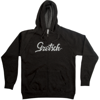 Gretsch Script Logo Hoodie Gray Talla S