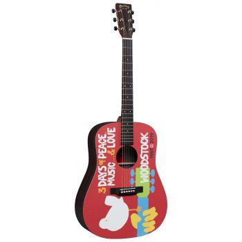 Martin DX-WOODSTOCK Guitarra Electroacústica Edición Especial