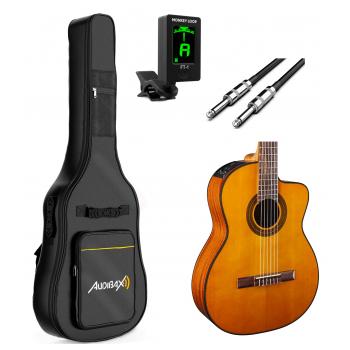 TAKAMINE GC1CE-NAT Bundle Guitarra Clásica Electrificada
