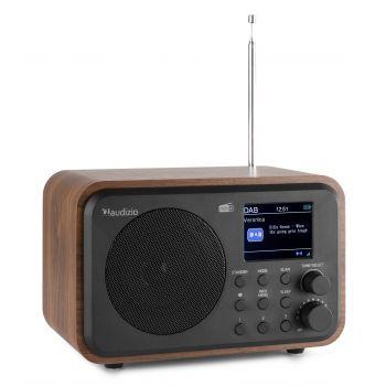 Audizio Milan Radio Portable DAB + BT con Batería Madera