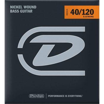 Dunlop DBN40120 Juego Cuerdas Bajo Nickel 5 St. 40-120