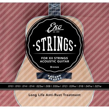 Eko Bronze Light 10-47 12c Cuerdas Para Guitarra Acustica 12 cuerdas