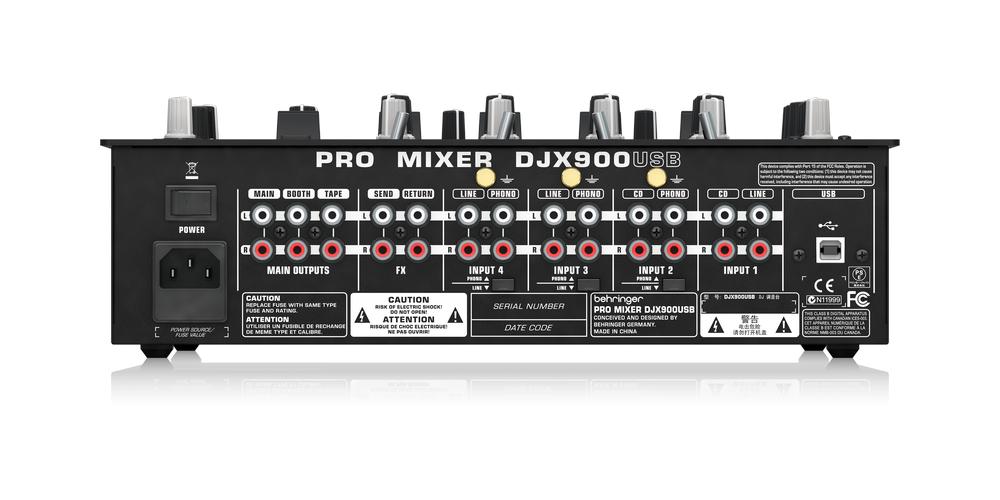 behringer DJX900USB conexiones