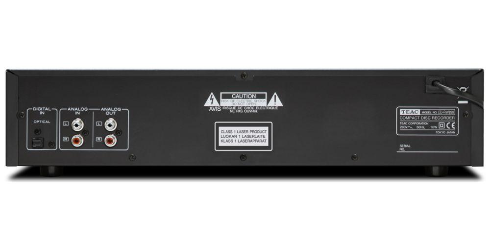 teac cdrw890 conexiones fibra optica