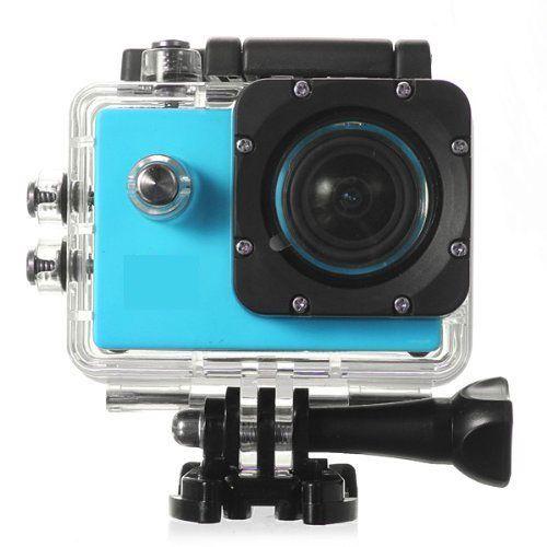 Action Cam 1080p con Accesorios Azul. Pantalla 2