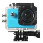"Action Cam 1080p con Accesorios Azul. Pantalla 2"" .Waterproof 30M"