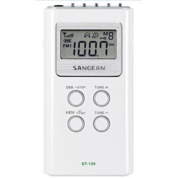 SANGEAN DT120 WH Radio Bolsillo Digital FM-AM Blanca